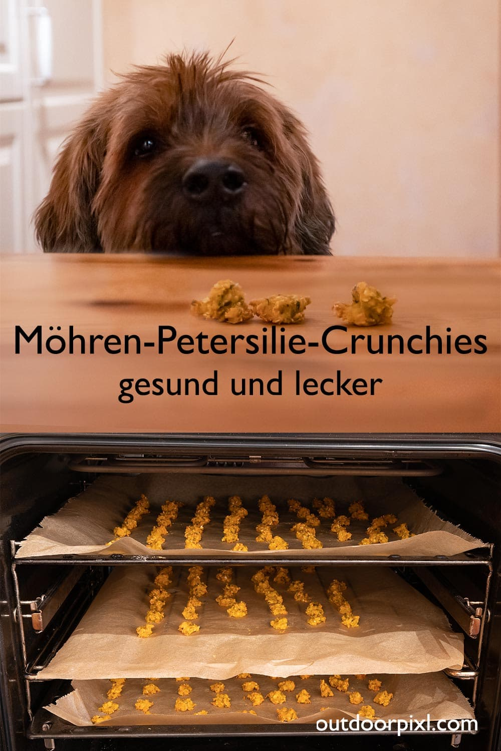 Pin-Möhren-Petersilie-Crunchies