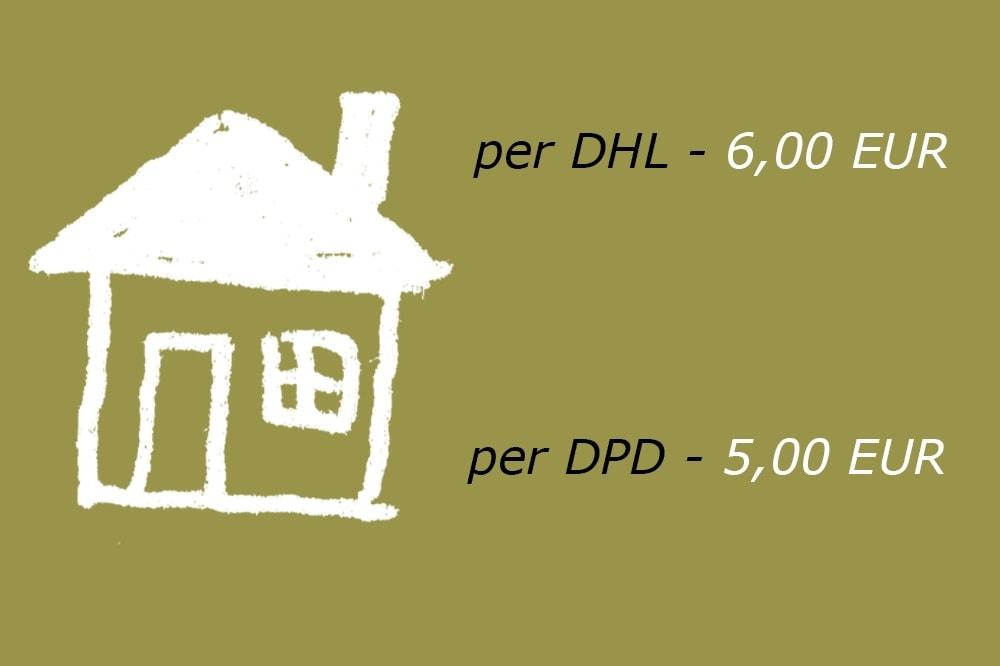 Lieferung per DHL oder DPD