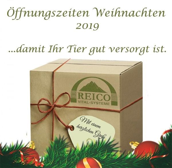 Reico Öffnungszeiten-Weihnachten